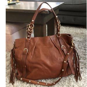 Helen Kaminski Large Brown Leather Hobo Bag